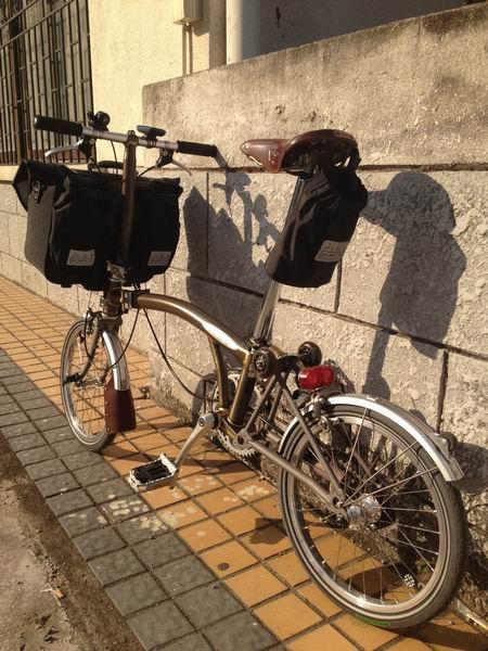 抛光小布钛后叉 77bike.com单车交流网,中国第一折叠自行车论坛,