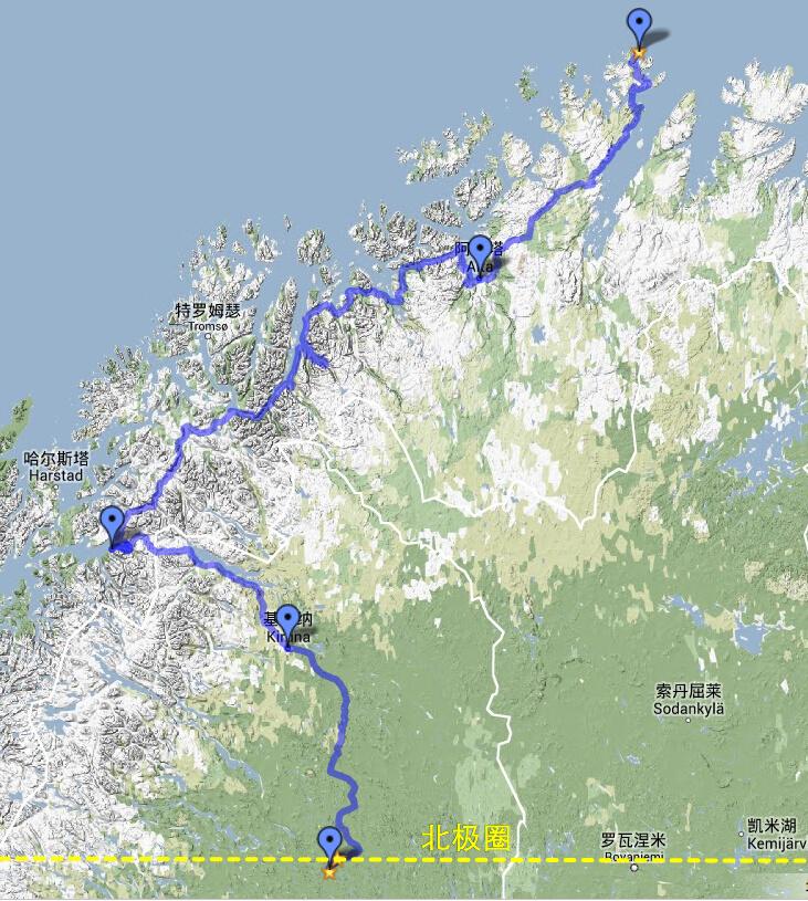 【裸男游欧洲】大地的尽头,骑行北极